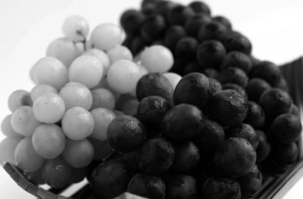 blueberries and grapes