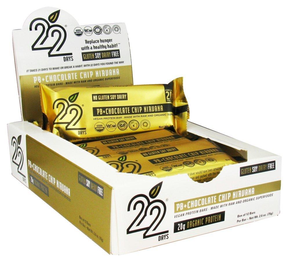 22 days protein bars