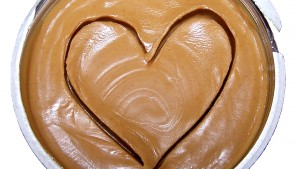 peanut butter with heart in top