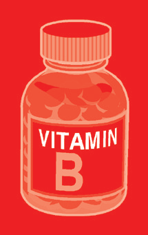 B vitamin bottle
