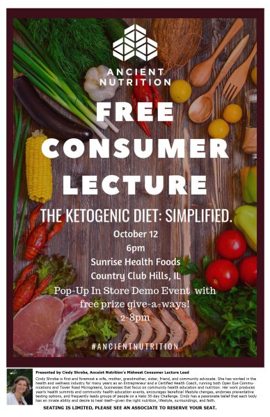 20181012 ancient nutrition consumer lecture