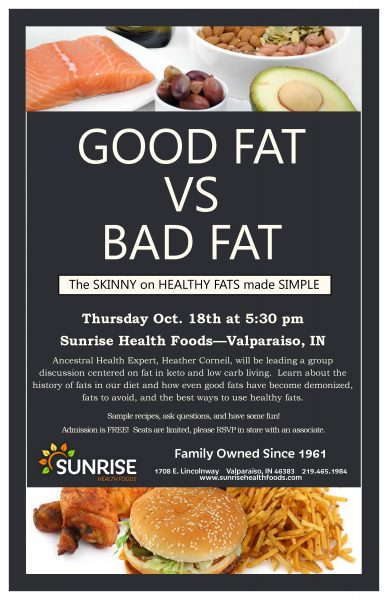 Good fat vs bad fat discussion group