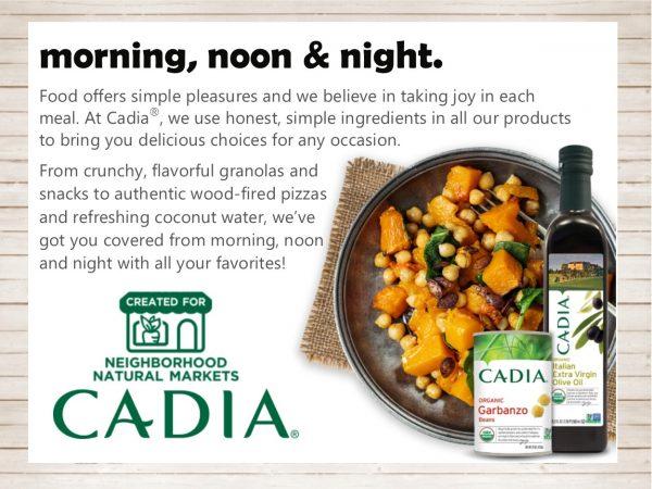 Cadia food