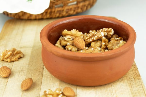 bowl of walnuts and almonds